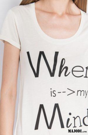 MAJODI.COM T Shirt Where is My Mind Silvian Heach