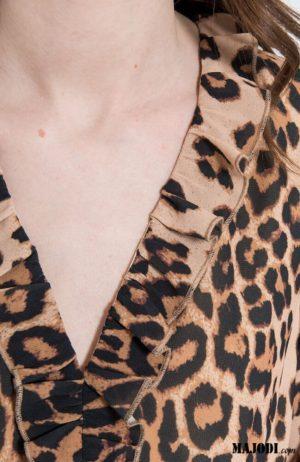 MAJODI.COM Vestido Animal Print IV
