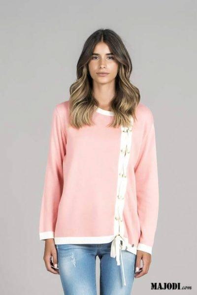 RUGA 1560 Casaco ilhoses rosa MAJODI.COM