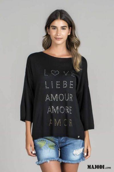 RUGA 1580 Camisola de malha Amor MAJODI.COM