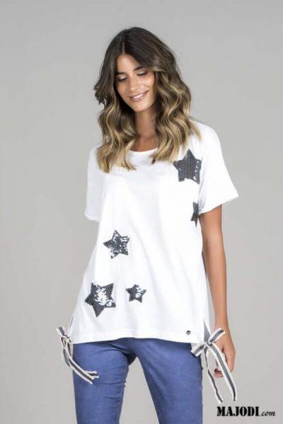 RUGA T011 T-shirt estrelas MAJODI.COM