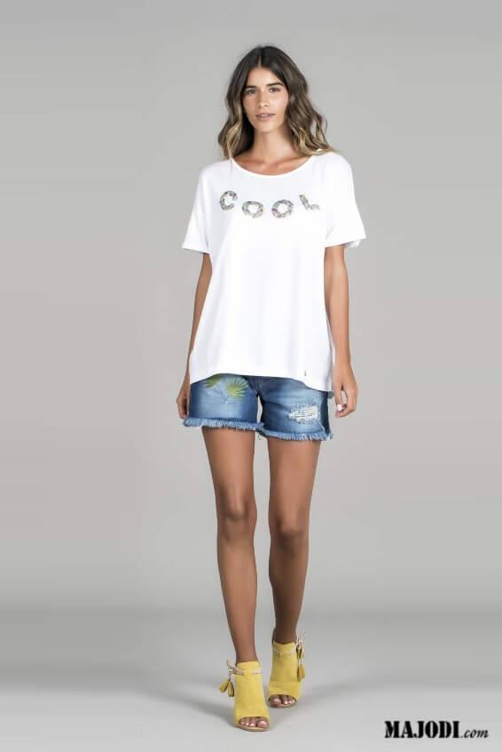 RUGA T013 T-shirt Cool branco MAJODI.COM