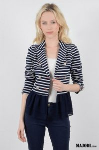MAJODI.COM Casaco Trespasse Navy MOLLY BRACKEN