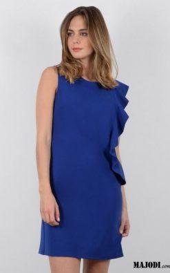 MAJODI.COM Vestido Azul com Folho MOLLYBRACKEN