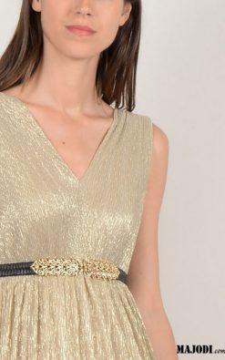 Vestido Comprido Dourado MOLLYBRACKEN