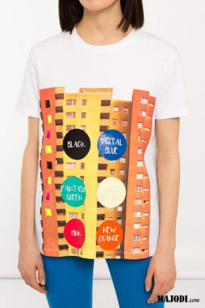 MAJODI.COM T-shirt estampada SH