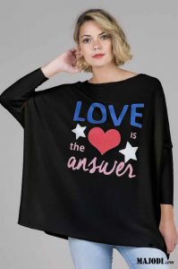 RUGA 1759 Camisola LOVE IS THE ANSWER MAJODI.COM