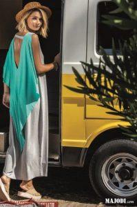 RUGA 2762 Vestido Capa MAJODI.COM