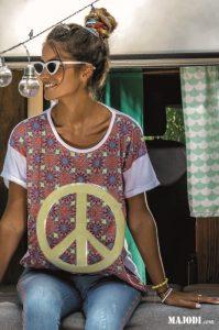 RUGA T029 T-shirt Peace MAJODI.COM