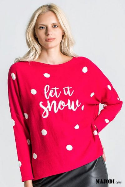 RUGA 1945 Camisola Bolas LET IT SNOW MAJODI.COM