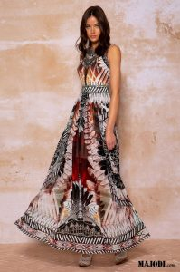 PEACE & CHAOS Totem maxi dress S20938 MAJODI.COM