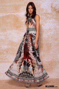PEACE & CHAOS Totem maxi dress S20938 MAJODI.COM