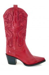 JEFFREY CAMPBELL Botas texanas vermelho MAJODI.COM