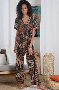 Molly Bracken Macacão estampado bamboo MAJODI.COM