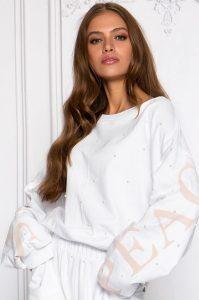 Camisola sportswear branco MAJODI.COM