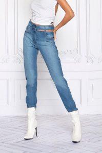 Jeans com corte na cintura MAJODI.COM