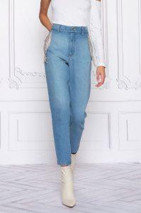 Jeans com fios brilhantes MAJODI.COM